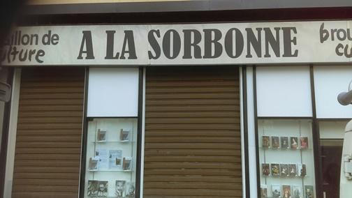 """""""vitrine Sorbonne brouillon de culture livres laurence lopez hodiesne"""""""